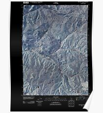 USGS TOPO Map Idaho ID The Paint Pot 20101116 TM Inverted Poster