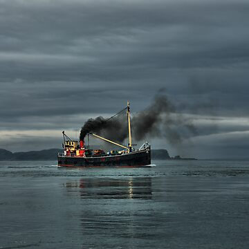 VIC32 Steaming up the Sound of Luing by agurney