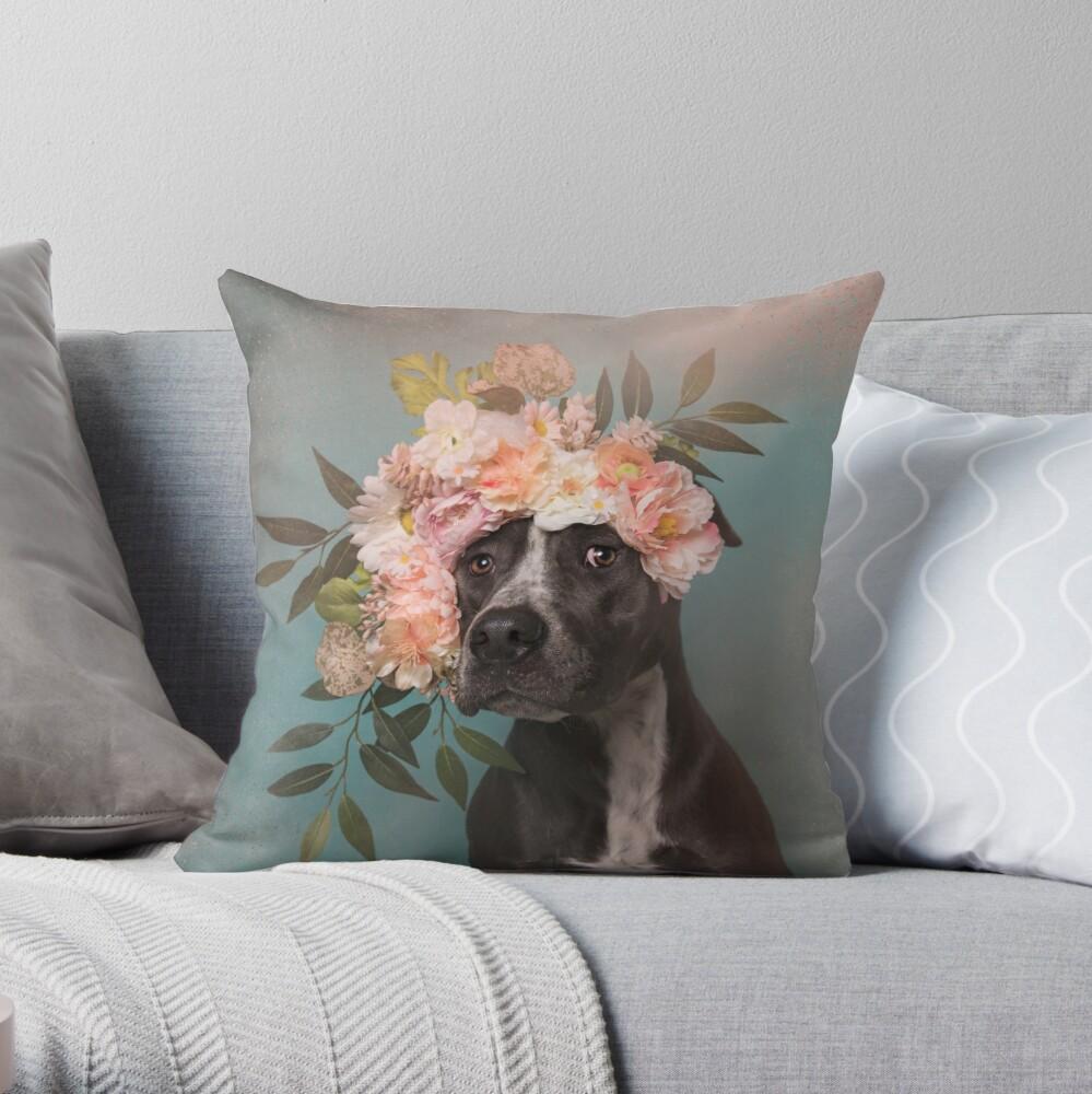 Flower Power, Max 2 Throw Pillow