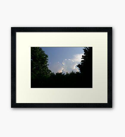 Kissin' Clouds Framed Print