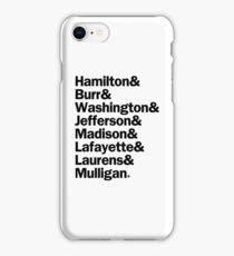 Hamilton - Characters Last Names | Black iPhone Case/Skin