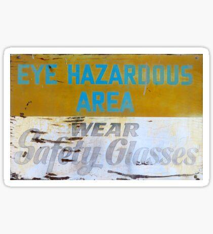 Eye Hazardous Area - Wear Safety Glasses Sticker