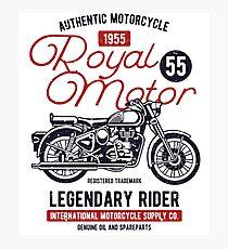 Motorcycle Retro Vintage Photographic Print