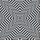 Minimal Geometrical Optical Illusion Style Pattern in Black & White  by badbugs