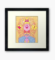 Kirby 25th Anniversary Framed Print