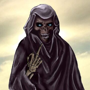 Grim Reaper Flipping the Bird by Alanpearce