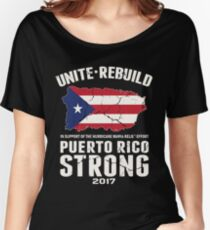 PLEASE HELP THE PEOPLE OF PUERTO RICO!! Women's Relaxed Fit T-Shirt