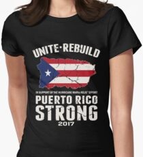 PLEASE HELP THE PEOPLE OF PUERTO RICO!! Women's Fitted T-Shirt
