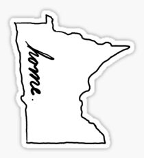 mn home Sticker