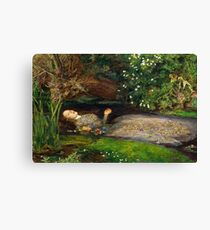 Ophelia Painting by John Everett Millais  Canvas Print