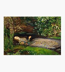Ophelia Painting by John Everett Millais  Photographic Print