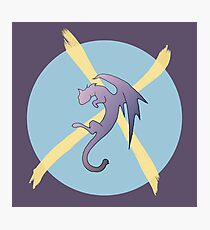 CatDragonX (purple) Photographic Print