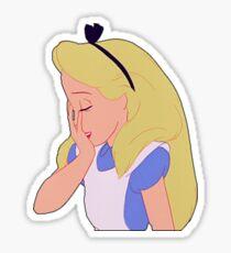 Alice Embarrassed  Sticker