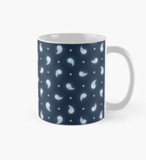 Ghosts + Skulls Pattern - Blue Mug