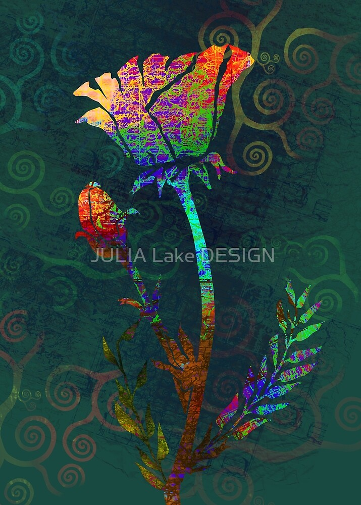 Poppy Flower by JULIA Lake DESIGN