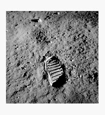 Astronaut Buzz Aldrin's bootprint on the moon, 1969 Photographic Print