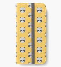 Animinimal Raccoon (yellow) iPhone Wallet/Case/Skin
