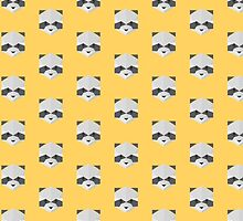 Animinimal Raccoon (yellow) by animinimal