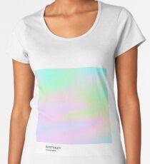 H.I.P.A.B - Holographic Iridescent Pantone Aesthetic Background pt 4 Women's Premium T-Shirt