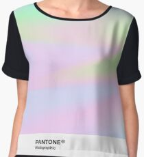 H.I.P.A.B - Holographic Iridescent Pantone Aesthetic Background pt 4 Chiffon Top