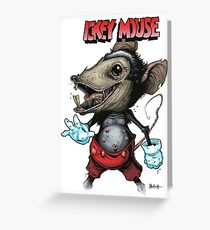 Ickey Mouse Greeting Card
