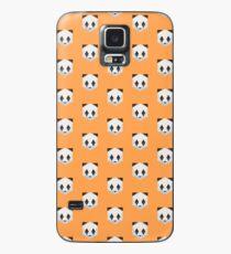 Animinimal Panda (orange) Case/Skin for Samsung Galaxy