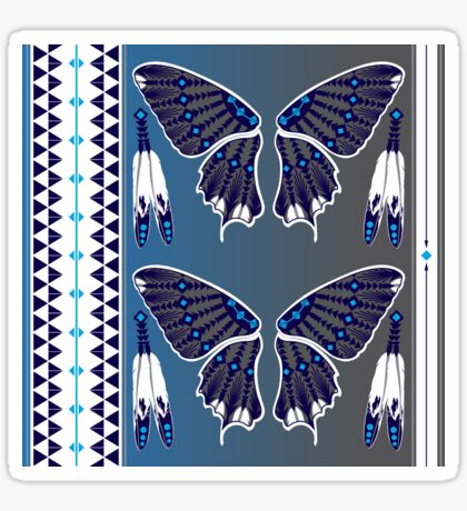 Butterfly Nation Blue Sticker