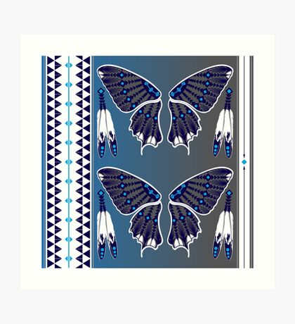 Butterfly Nation Blue Art Print
