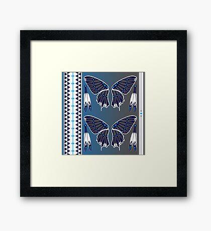 Butterfly Nation Blue Framed Print