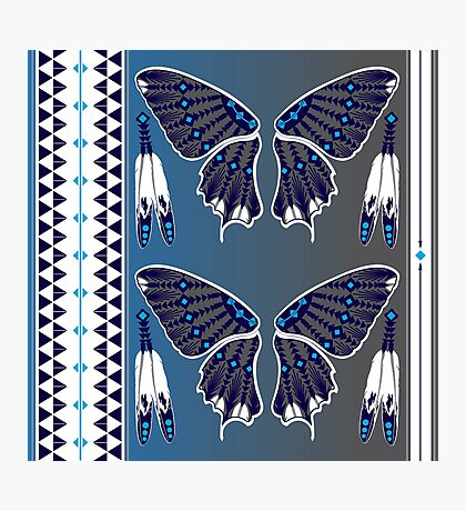 Butterfly Nation Blue Photographic Print