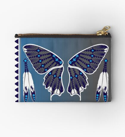 Butterfly Nation Blue Studio Pouch