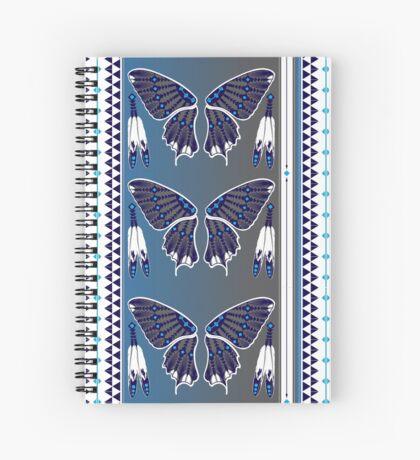 Butterfly Nation Blue Spiral Notebook