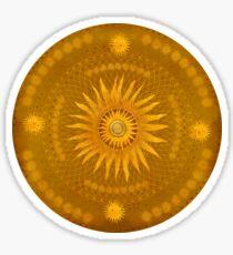 """""""Ocher Celestial Vault Mandala""""  Sticker"""