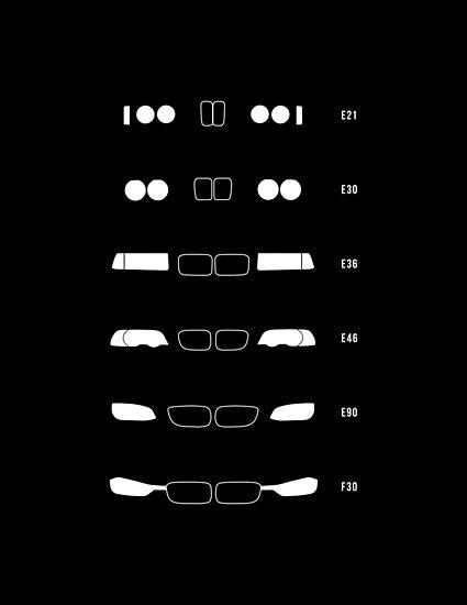 3 Erbe, 1975 bis heute (E21, E30, E36, E46, E90, F30) von ApexFibers