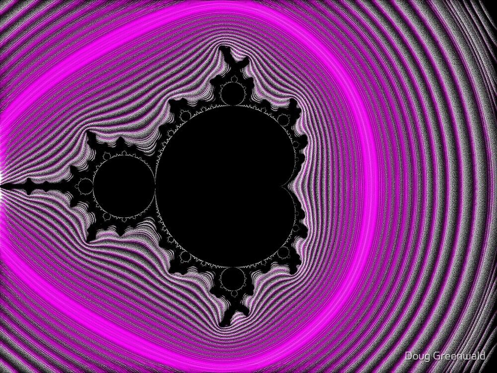 Pink Bubblegum Mandelbrot Candystripe by Doug Greenwald
