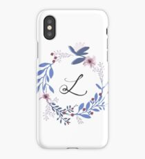 Flowers and the Letter L iPhone Case/Skin
