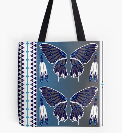 Butterfly Nation Blue Tote Bag