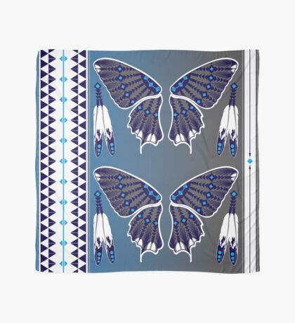 Butterfly Nation Blue Scarf