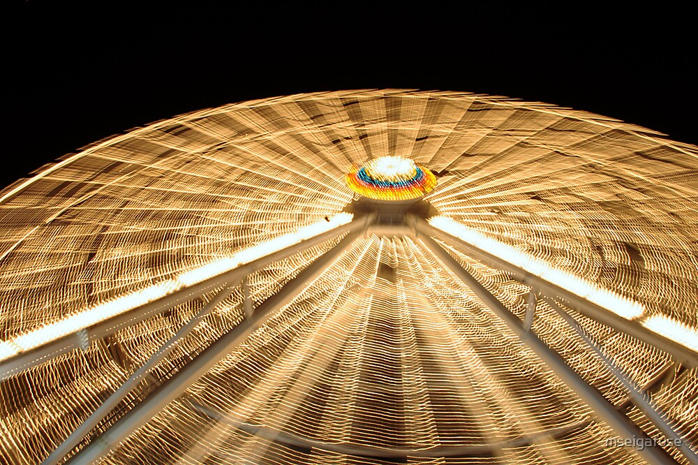Ferris Wheel Blur by mseigafuse