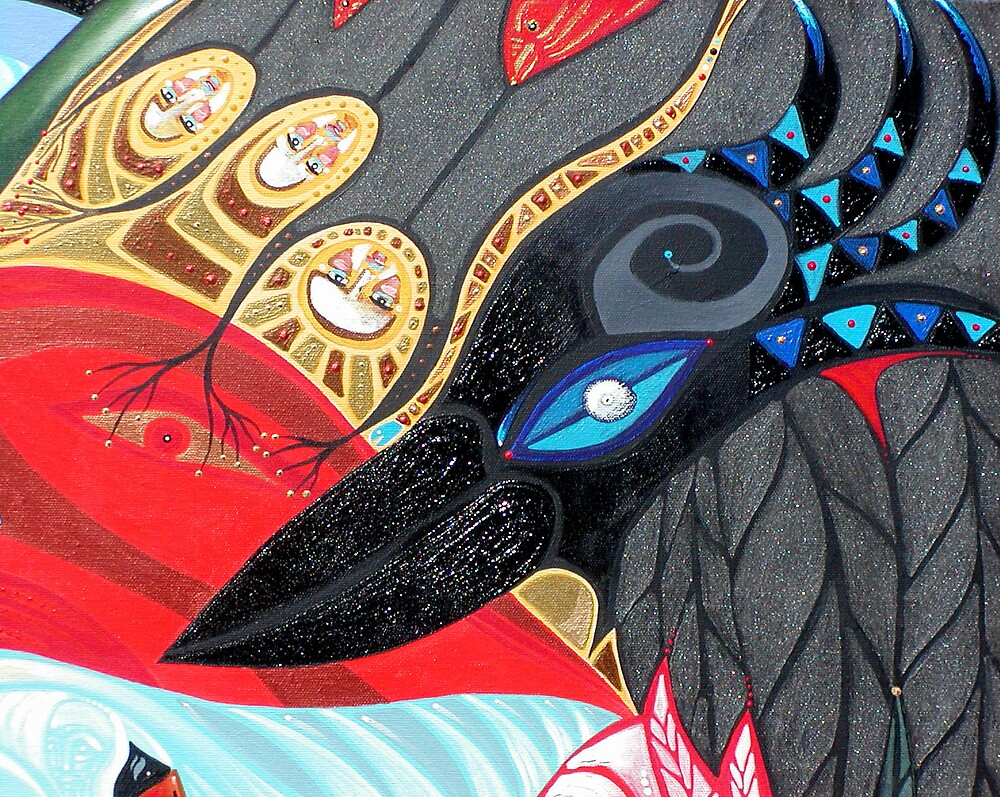 Blazen Raven (detail) by arteology