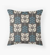 Herbaceous Blue Throw Pillow