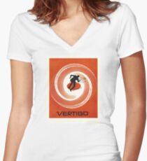 Vertigo Film Poster - Edited  Women's Fitted V-Neck T-Shirt