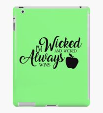 Wicked always wins iPad Case/Skin