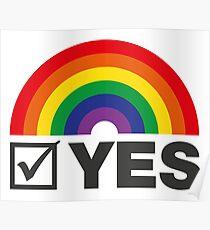 Vote Yes! - Rainbow Tick Poster