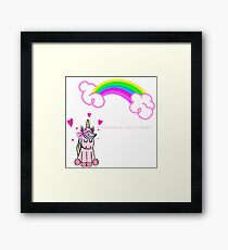 BE A UNICORN IN A FIELD OF HORSES Framed Print