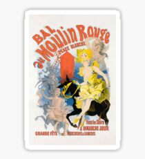 Moulin Rouge White Place ball poster 164 Sticker