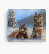 Wolves in the Snow Canvas Print