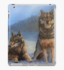 Timber Wolves in the Snow iPad Case/Skin