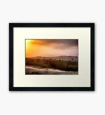 Under the Tuscan Sunset Framed Print