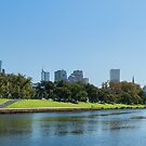 Melbourne, by the Yarra by Vickie Burt